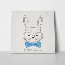 Cute bunny hipster blue bow 564662062 a