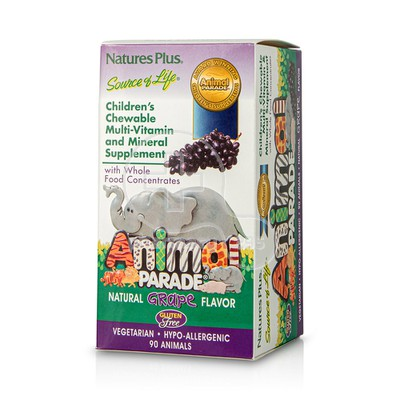 NATURE'S PLUS - SOURCE OF LIFE ANMIMAL PARADE Multi Vitamin & Mineral (Grape) - 90chew.tabs