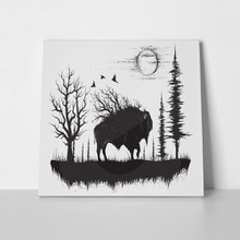Buffalo walking strange forest 539115691 a