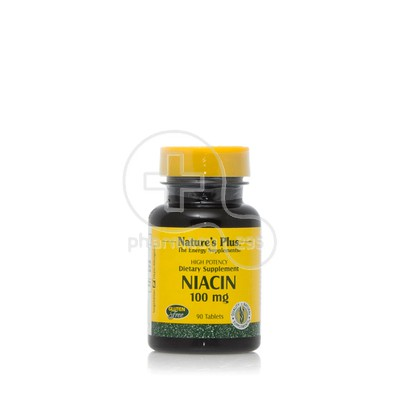 NATURE'S PLUS - Niacin (Vitamin B3) 100mg - 90tabs