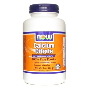 Now foods calcium citrate pure powder 227 gr
