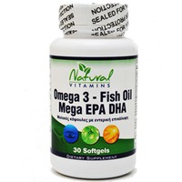 NATURAL VITAMINS OMEGA 3-FISH OIL 1,000MG-700MG EPA/DHA 30 COATED SOFTGELS