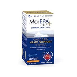 Am Health Minami Nutrition MorEpa Plus Supercritical Omega-3 Fish Oil Heart Support 30softgels Orange Flavour
