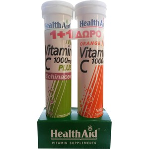 Health aid vitamin c 1000mg plus echinacea   vitamin c 1000mg