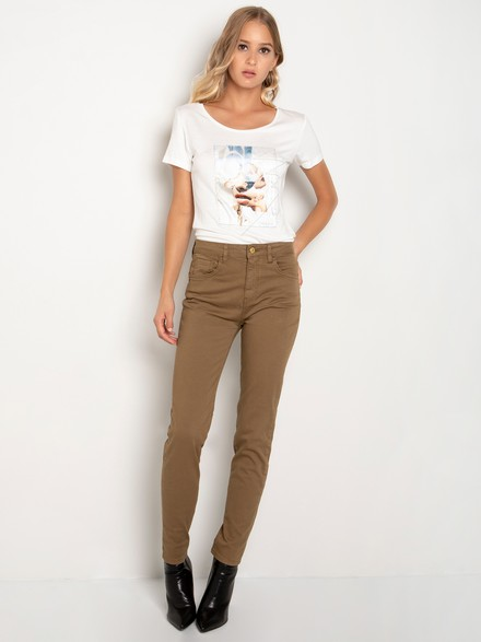 Basic high rise trousers