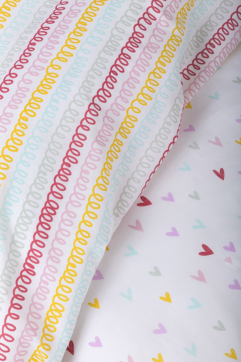 ... Σετ Σεντόνια Rainbow Hearts ... a9494bb986a