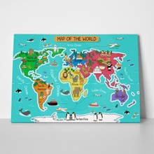 Colour illustration world map 258610514 a