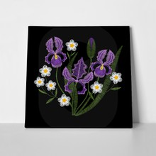 Iris and chamomile embroidery 744981481 a
