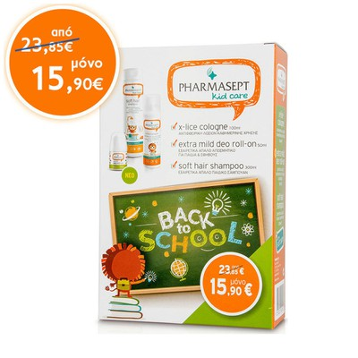 PharmaSept - X-Lice Cologne -100ml & Extra Mild Deo Roll-On - 50ml & Soft Hair Shampoo - 300ml