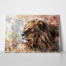 Lion cracked art 271516913 a