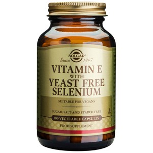 Solgar vitamin e with yeast free selenium  100
