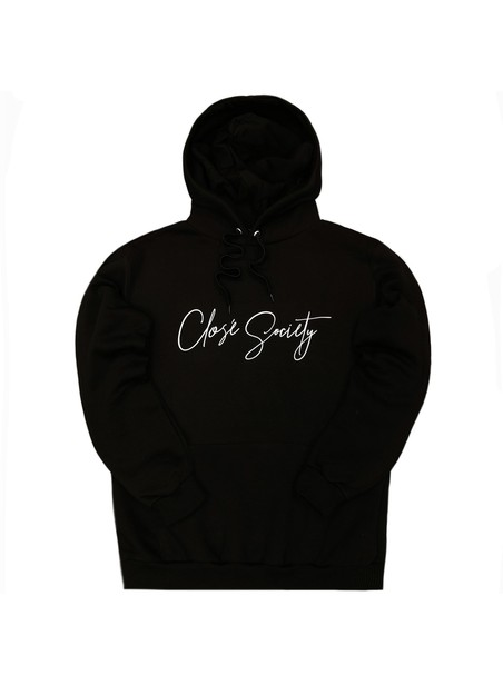 CLVSE SOCIETY BLACK CALLIGRAPHY HOODIE