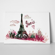 Watercolor eiffel tower 391682455 a