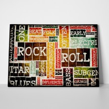 Grunge music typography