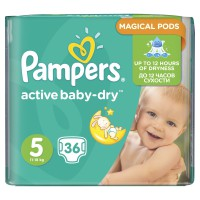 Pampers Active Baby Dry No5 (Junior) 36 Πάνες 11-18kg