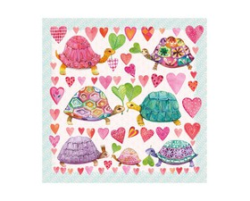"Paper Products Χαρτοπετσέτα ""Turtles In Love"" 33x33cm."