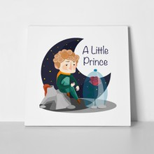 Illustration little prince rose 737845636 a