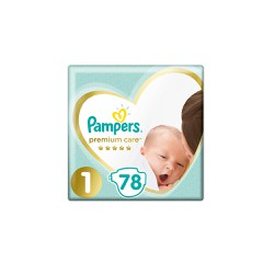 Pampers Premium Care Diapers Size 1 (2-5kg) 78 Diapers