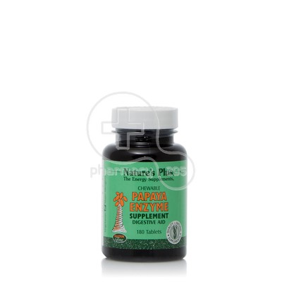 NATURE'S PLUS - Papaya Enzyme - 180chew.tabs