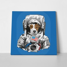 Jack russell terrier dog astronaut 408547633 a