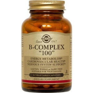 SOLGAR Vitamin B-COMPLEX ''100'' 50vegetables caps