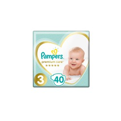 Pampers Premium Care Diapers Size 3 (6-10kg) 40 Diapers
