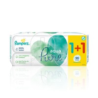 PAMPERS - PROMO PACK 1+1 ΔΩΡΟ AQUA PURE Μωρομάντηλα - 48τεμ.