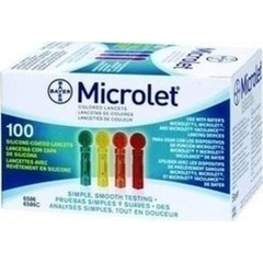 Bayer Microlet Colored Lancets 100τμχ