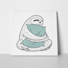 Cute hand drawn cartoon line sloth 653218546 a