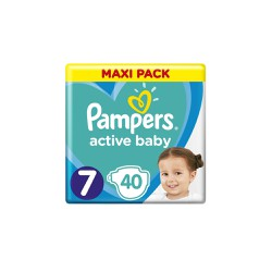 Pampers Active Baby Diapers Size 7 (15kg+) 40 Diapers