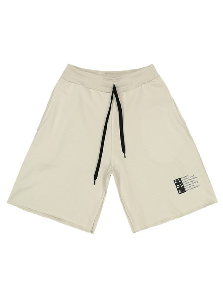 CLVSE SOCIETY BEIGE SHORTS 209 OFFICIAL LOGO