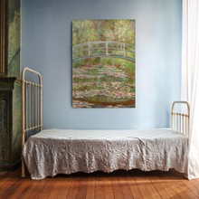Monet   bridge over water lily pond