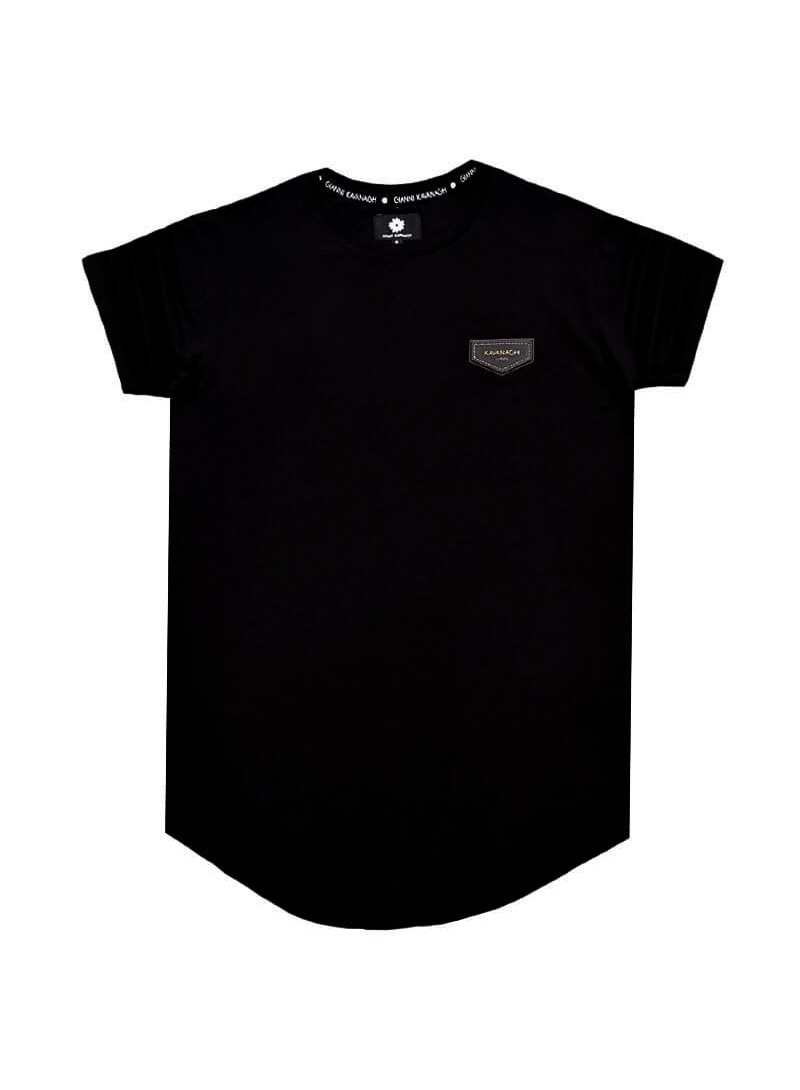 Gianni Kavanagh Black Party Season Tee With Gk Ribbon