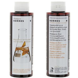 Korres Shampoo for dyed hair with Sunflower and Mountain Tea 250ml