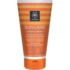 Apivita Suncare Face & Body Sun Protection Milk Sea Lavender & Propolis SPF30 150ml
