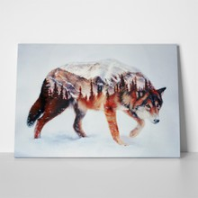 Wolf forest airbrush painting 611748704 a