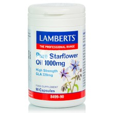 Lamberts PURE STARFLOWER OIL 1000mg (High GLA 220mg), 90caps