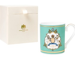 Gb emblem mug with gold details single