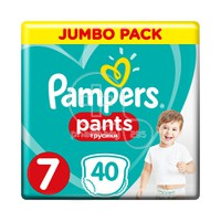 PAMPERS - JUMBO PACK Pants No7 (17+kg) - 40 πάνες