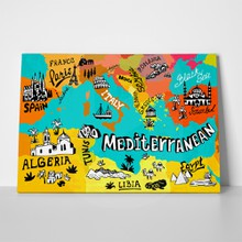 Illustrated map mediterranean 316238180 a