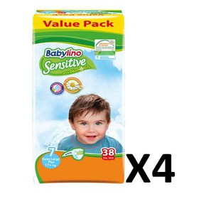 BABYLINO SENSITIVE XL N7 17+kg 152 (=4x38) ΤΕΜΑΧΙΑ