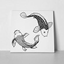 Hand drawn outline koi fish 531017401 a