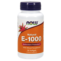NOW E-1000 IU WITH MIXED TOCOPHEROLS, 50 SOFTGELS