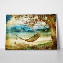 Tropical scene artwork painting style 58636840 a
