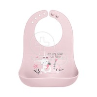 STEPHEN JOSEPH - SAFE AND SOUND Silicone Baby Bib 0m+ (Bunny)