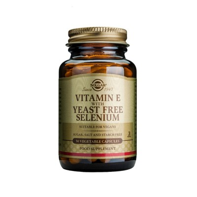 Solgar - Vitamin E with Yeast Free Selenium - 50caps
