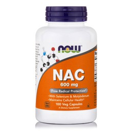 Now NAC 600 mg, w/ Selenium & Molybdenum, 100 vcaps