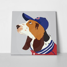 Vector illustration fashion basset hound dog 549245578 a
