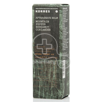 KORRES - After Shave Balm Mountain Pepper, Περγαμόντο και Κορίανδρο - 125ml