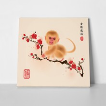 Oriental style painting monkey 351244691 a